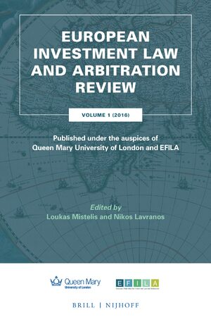 Cover European Investment Law and Arbitration Review