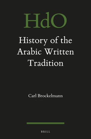 Cover History of the Arabic Written Tradition