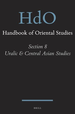 Cover Handbook of Oriental Studies. Section 8 Uralic & Central Asian Studies