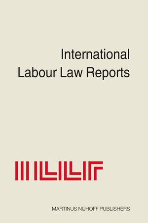 Cover International Labour Law Reports