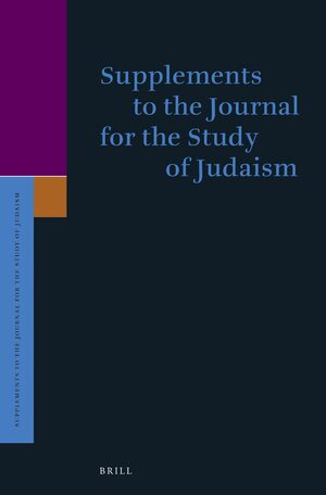 Cover Supplements to the Journal for the Study of Judaism