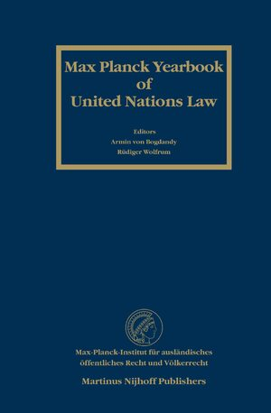 Cover Max Planck Yearbook of United Nations Law