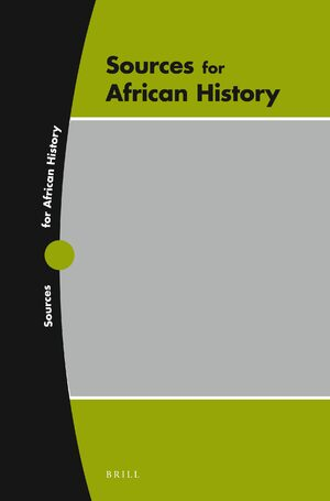 Cover Sources for African History