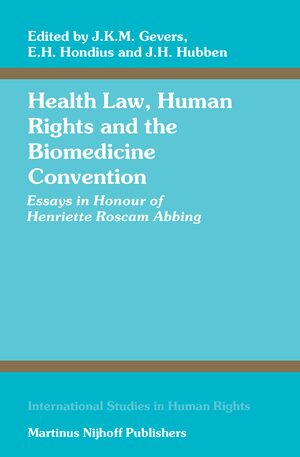 Cover Health Law, Human Rights and the Biomedicine Convention