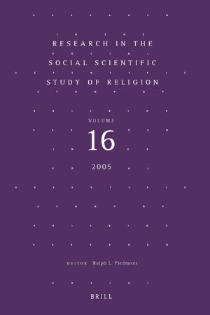 Cover Research in the Social Scientific Study of Religion, Volume 16