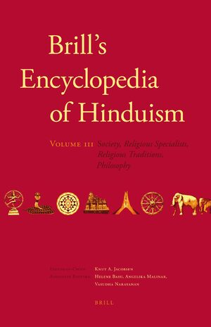 Cover Brill's Encyclopedia of Hinduism. Volume Three