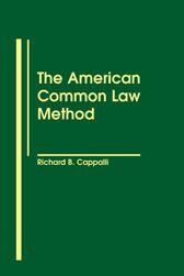 Cover The American Common Law Method