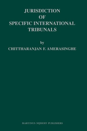 Cover Jurisdiction of Specific International Tribunals