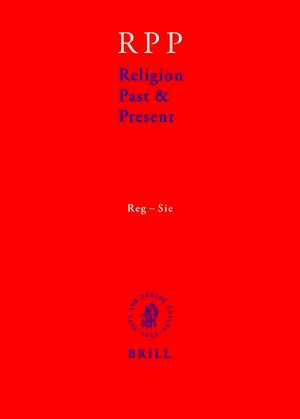 Cover Religion Past and Present, Volume 11 (Reg-Sie)