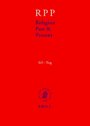 Cover Religion Past and Present, Volume 12 (Sif-Tog)