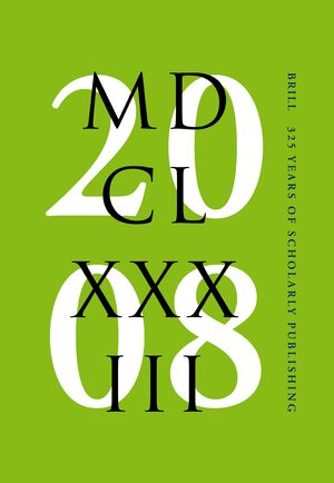 Cover Brill – 325 years of scholarly publishing
