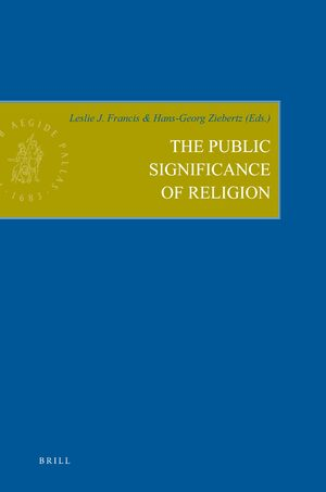 Cover The Public Significance of Religion