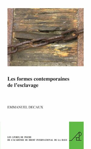 Cover Les formes contemporaines de l'esclavage