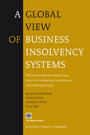 Cover A Global View of Business Insolvency Systems