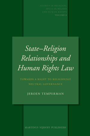 Cover State–Religion Relationships and Human Rights Law
