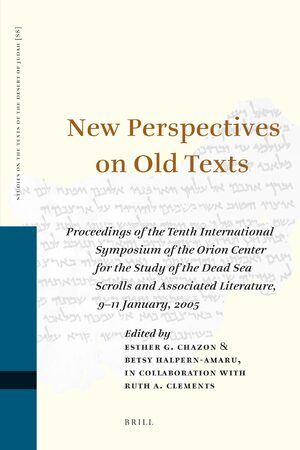 Cover New Perspectives on Old Texts