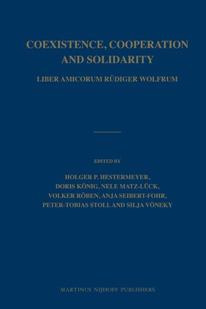 Cover Coexistence, Cooperation and Solidarity (2 vols.)