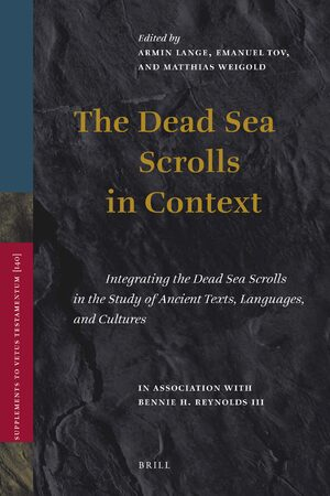 Cover The Dead Sea Scrolls In Context (2 vols)