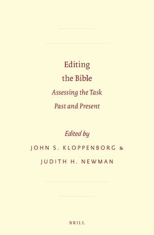 Cover Editing the Bible