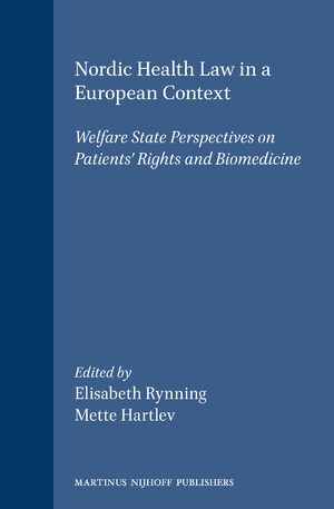 Cover Nordic Health Law in a European Context