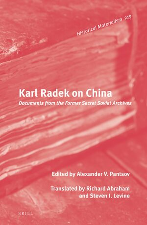 Cover Karl Radek on China