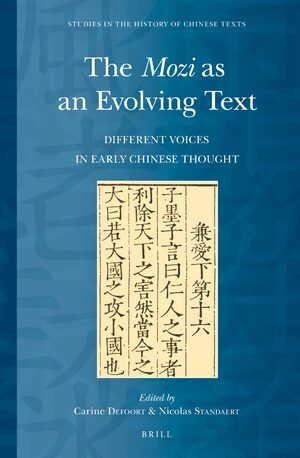 Cover The <i>Mozi</i> as an Evolving Text