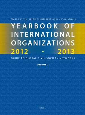 Cover Yearbook of International Organizations 2012-2013 (Volume 2)