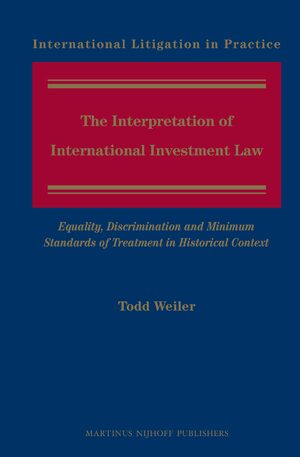 Cover The Interpretation of International Investment Law