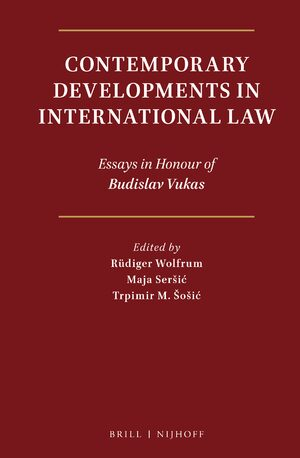 Cover Contemporary Developments in International Law
