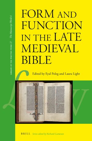 Cover Form and Function in the Late Medieval Bible