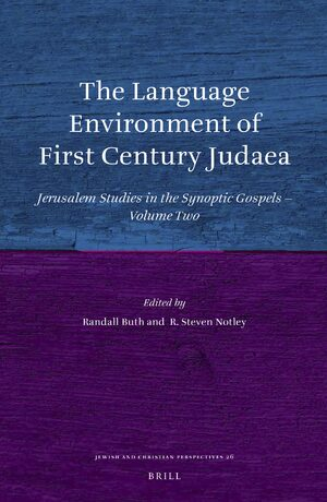 Cover The Language Environment of First Century Judaea