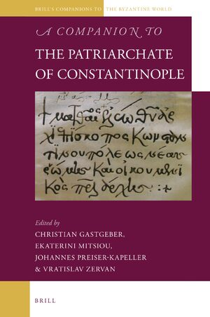 Cover A Companion to the Patriarchate of Constantinople