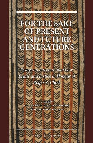 Cover For the Sake of Present and Future Generations