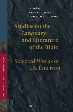 Cover Studies on the Language and Literature of the Bible