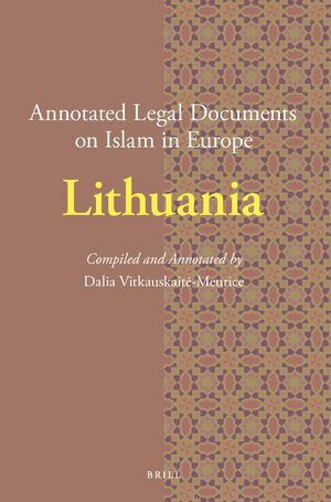 Cover Annotated Legal Documents on Islam in Europe: Lithuania