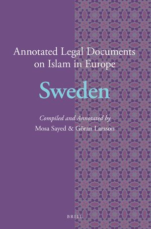 Cover Annotated Legal Documents on Islam in Europe: Sweden
