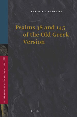Cover Psalms 38 and 145 of the Old Greek Version