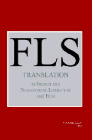 Cover Translation in French and Francophone Literature and Film