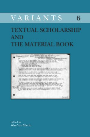 Cover Textual Scholarship and the Material Book