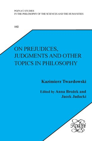 Cover On Prejudices, Judgments and Other Topics in Philosophy