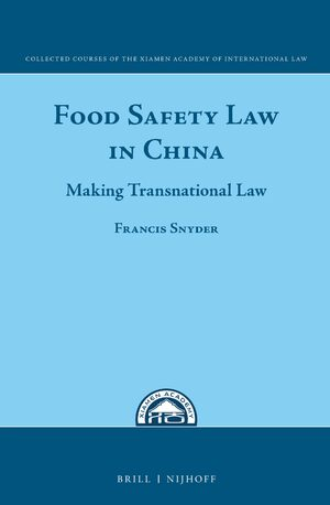 Cover Food Safety Law in China