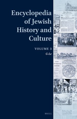 Cover Encyclopedia of Jewish History and Culture, Volume 3