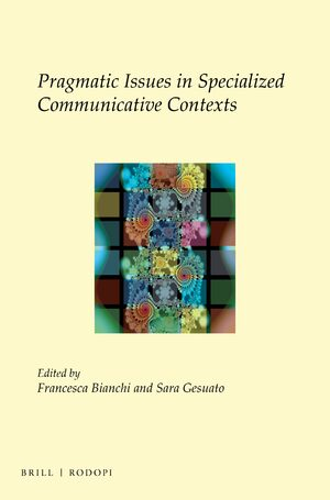 Cover Pragmatic Issues in Specialized Communicative Contexts