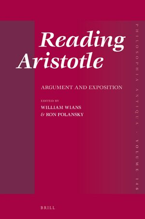 Cover Reading Aristotle