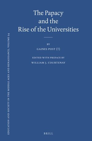 Cover The Papacy and the Rise of the Universities