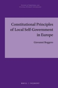 Cover Constitutional Principles of Local Self-Government in Europe