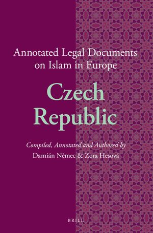Cover Annotated Legal Documents on Islam in Europe: Czech Republic