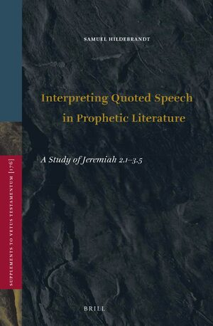 Cover Interpreting Quoted Speech in Prophetic Literature