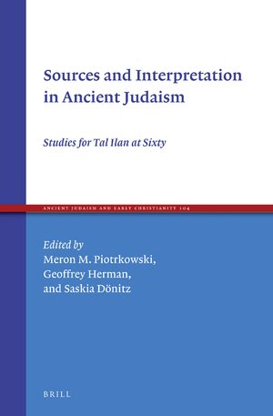 Cover Sources and Interpretation in Ancient Judaism