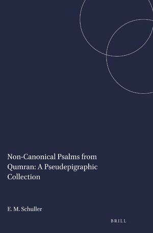 Cover Non-Canonical Psalms from Qumran: A Pseudepigraphic Collection